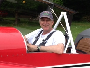 Eric at the controls of the RV4